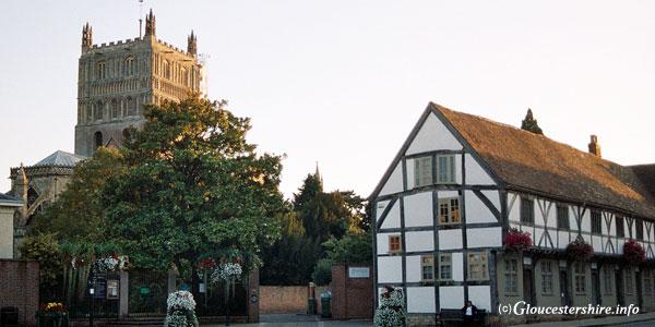 Tewkesbury Abbey view